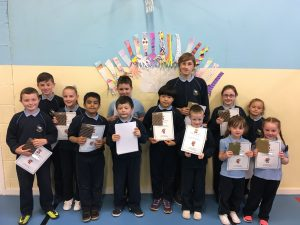 These amazing children did not miss any days this year. Well done!