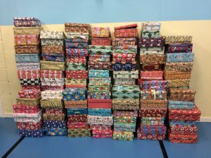 We sent 113 shoeboxes last year!